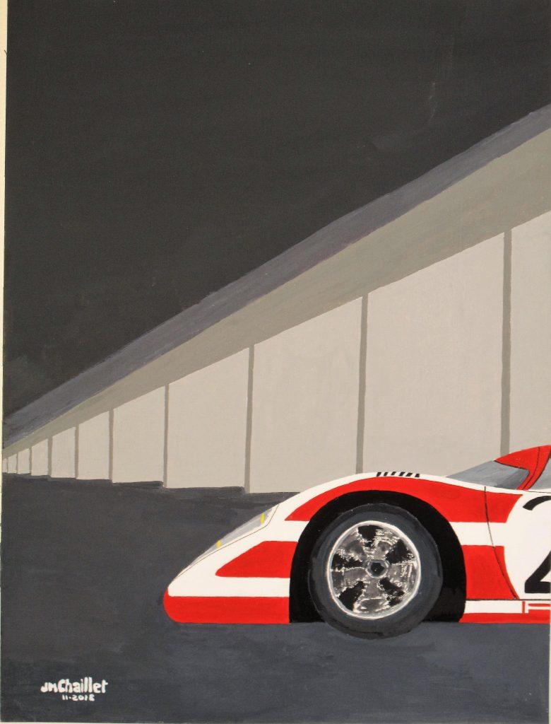 Sortie de stand 917 - gouache 30 x 40 - 400 €